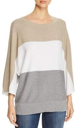Lafayette 148 New York Color Block Dolman Sleeve Sweater