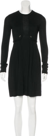 Burberry Burberry London Long Sleeve Knit Dress