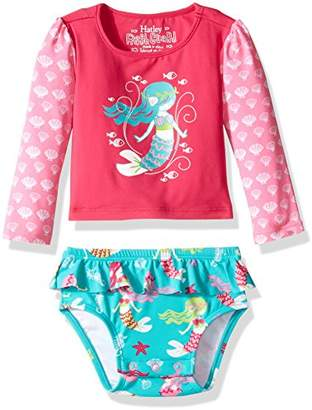 Hatley Baby Girls' Rash Guard Set Swim Shirt,3-6 Months