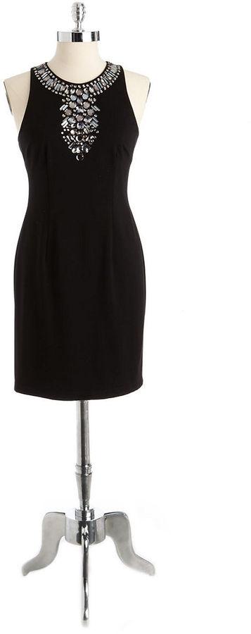 Adrianna Papell Embellished Sheath Dress