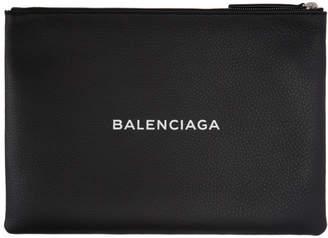 Balenciaga Black Logo Zip Pouch