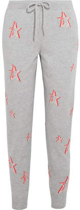 Chinti and Parker 3d Star Cashmere Track Pants - Gray