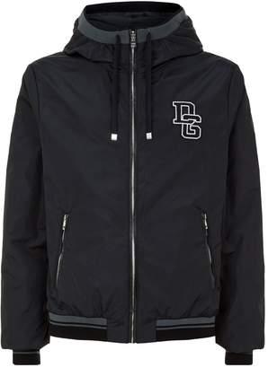Dolce & Gabbana Logo Applique Hooded Jacket