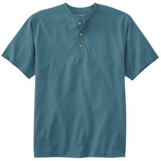 L.L. Bean L.L.Bean Men's Carefree Unshrinkable Tee,Traditional Fit Short-Sleeve Henley