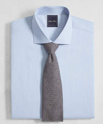 Brooks Brothers Golden Fleece Milano Slim-Fit Dress Shirt, English Collar End-on-End Frame Stripe