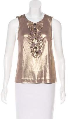 3.1 Phillip Lim Sleeveless Metallic Silk Top