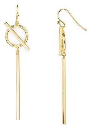Argentovivo Circle and Bar Drop Earrings