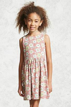 Forever 21 Girls Floral Tank Dress (Kids)