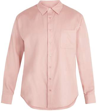 SIES MARJAN Point-collar silk-blend twill shirt