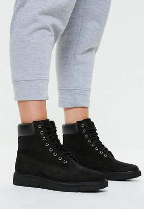 Missguided Timberland Black Nubuck Black Out Kenniston 6 Inch Lace Up Boots