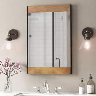 Gracie Oaks Vereen Wood and Metal Wall Mirror