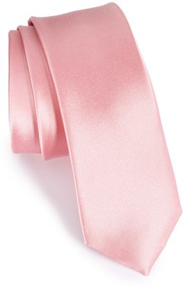 Men's The Tie Bar Solid Silk Skinny Tie $19 thestylecure.com
