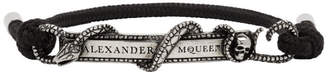 Alexander McQueen Black Snake and Horse Bracelet