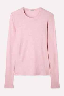 James Perse Slub Supima Cotton-jersey Top - Baby pink