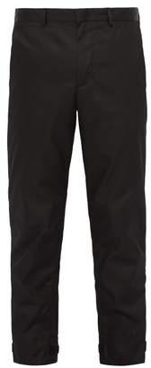 Prada Nylon Gabardine Trousers - Mens - Black