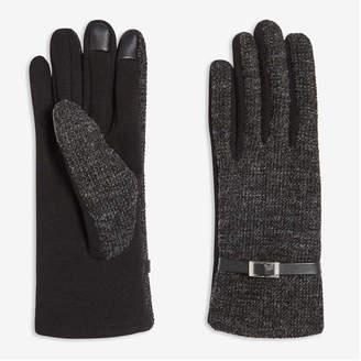 Joe Fresh Women's Tweed Gloves, Black (Size L/XL)
