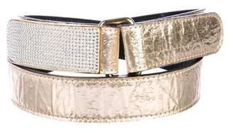 Giuseppe Zanotti Metallic Leather Waist Belt
