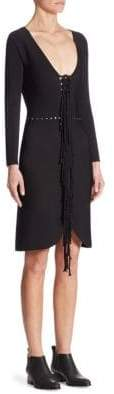 Alexander Wang Fringe Sheath Dress