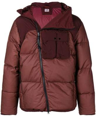C.P. Company Bi-Mesh GD-Goggle Utility zip-puffy jacket