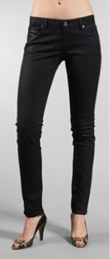 The Unknown Factory Black Wax Skinny with Zipper Pockets Jean