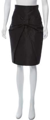 Prada Chiffon Pencil Skirt Black Chiffon Pencil Skirt