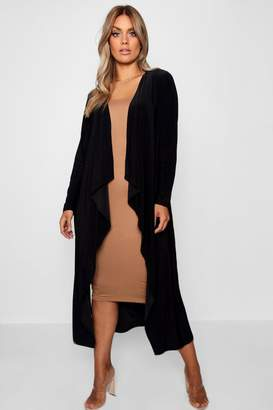 boohoo Plus Slinky Waterfall Duster