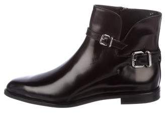 Tod's Pointed-Toe Leather Ankle Boots