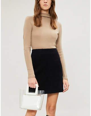 Maje Jassim brushed wool-blend mini skirt