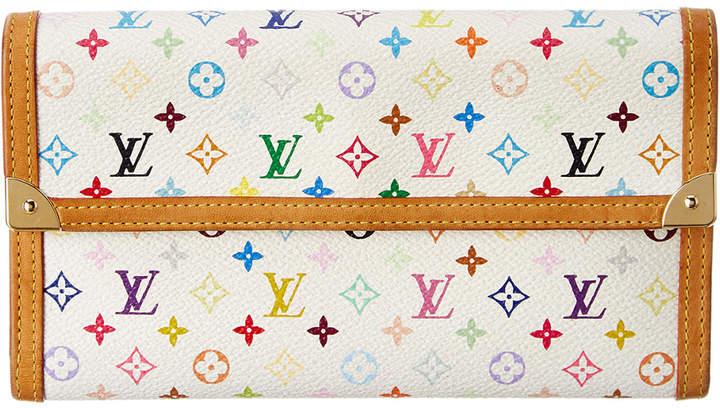 Louis Vuitton White Monogram Multicolore Canvas International Wallet