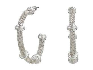 Lauren Ralph Lauren 28 Millimeter Mesh Hoop Earrings