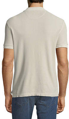 ATM Anthony Thomas Melillo Men's Bleached Out Pique Classic Polo Shirt