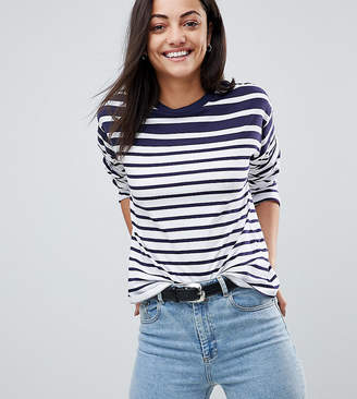 Asos Tall TALL Boxy Top in Cutabout Stripe
