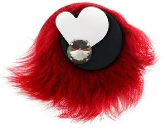 Marni furry brooch