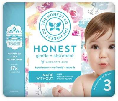 The Honest Company Honest 27-Pack Size 3 Diapers in Rose Blossom Pattern