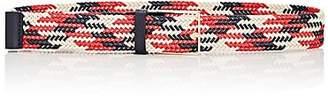 MAISON BOINET Women's Braided Cotton Belt - Red