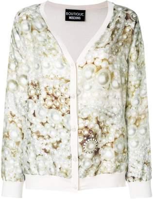 Moschino pearl print cardigan