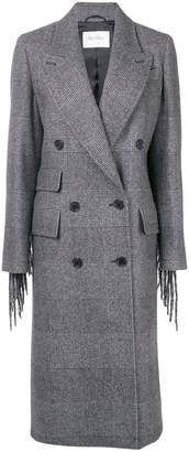 Max Mara checked double-breasted coat