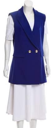 St. John Wool Notch-Lapel Vest