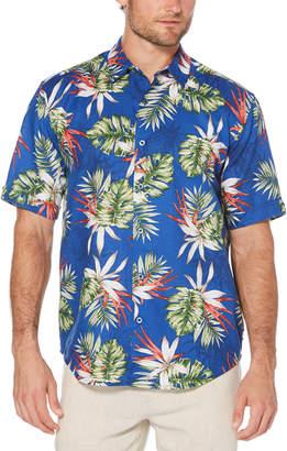 Cubavera Tropical Pineapple Print Shirt