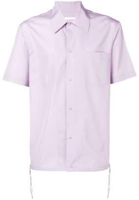 Helmut Lang shortsleeved button down shirt