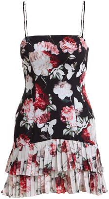 Fame & Partners Oksana Two-Tone Tier Floral Bustier Dress