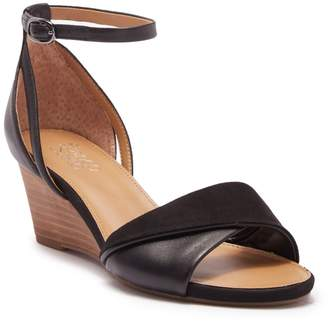 Franco Sarto Deirdra Wedge Ankle Strap Sandal - Wide Width Available