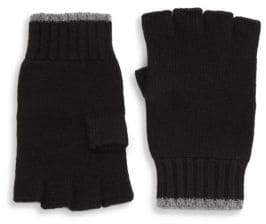 Saks Fifth Avenue COLLECTION Tipping Fingerless Cashmere Gloves