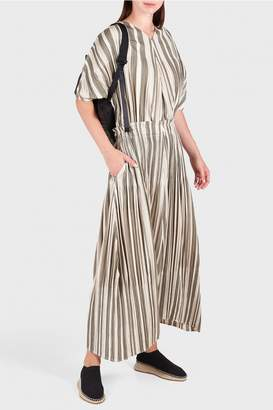 Pleats Please Issey Miyake Playing Stripe Trousers