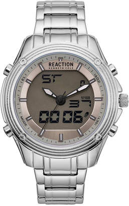Kenneth Cole Reaction Kenneth Cole New York Men's Analog-Digital Reaction Stainless Steel Bracelet Watch 46mm