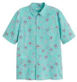 MANGO MAN Regular-fit printed cotton shirt