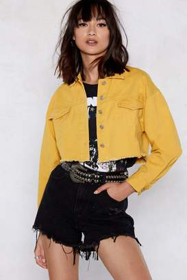 Nasty Gal Cut to the Chase Cropped Denim Jacket