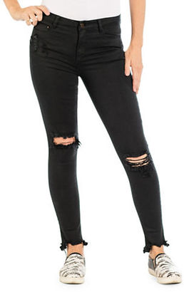 Banjara Skinny Ankle Distressed Jeans $98 thestylecure.com