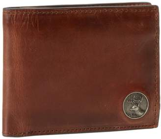 Weber's Leathers Men's Billfold with Buck Concho