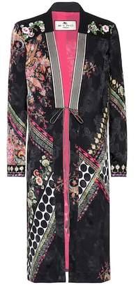 Etro Printed jacquard silk-blend jacket